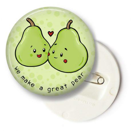 Schattige-peren-button-valentijn-DewyCreations by .