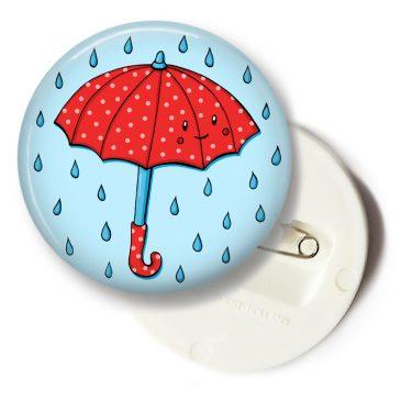 Schattige-rode-paraplu-button by .