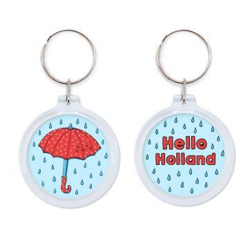 Schattige-kawaii-rode-paraplu-umbrella-keychain-sleutelhanger