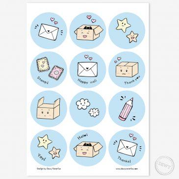 Sluitstickers-cadeatjes-snailmail-postcrossing-post-stickers by .