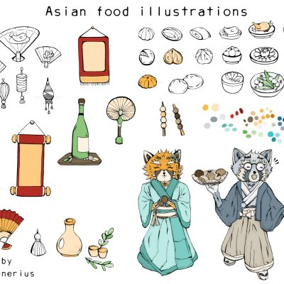Small Asian food & items