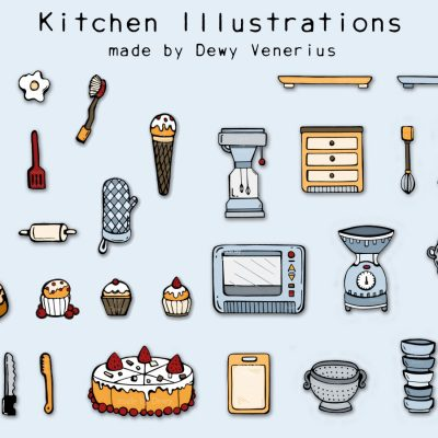 Kitchen illustrations