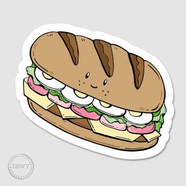 Sticker-broodje-gezondB by Dewy Venerius.
