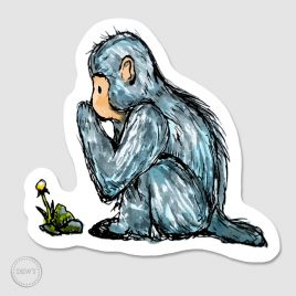Sticker-cute-monkeyB by Dewy Venerius.