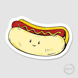 Sticker-hotdogB by Dewy Venerius.