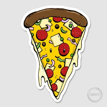 Sticker-pizzaB by Dewy Venerius.