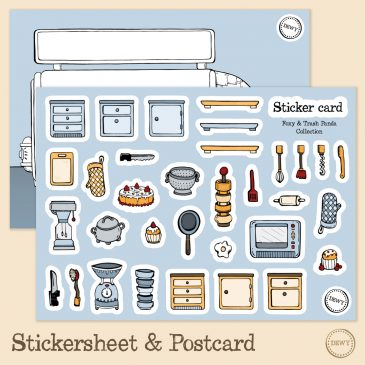 Stickervel_postkaart_bus by Dewy Venerius.