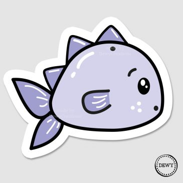 Surprised-fish-kawaii-sticker-DewyCreations by .