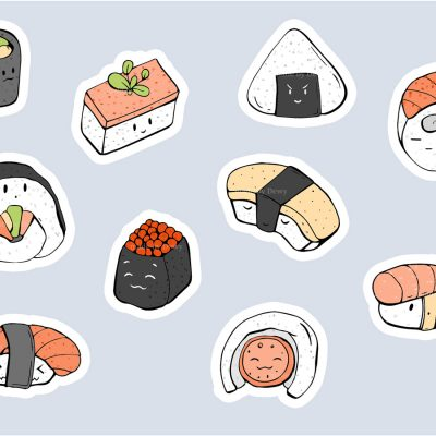 Sushi-illustrations by .