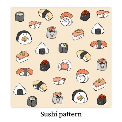 Sushi-pattern-DewyCreations by Dewy Venerius.
