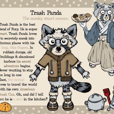 Trash Panda - raccoon character design
