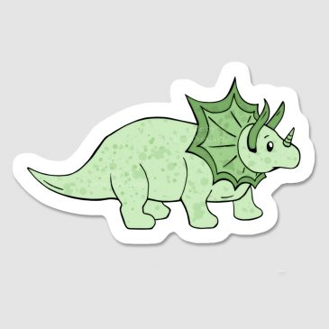 Triceratops-dino-sticker by .