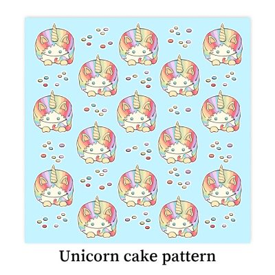 Unicorn-pastel-cake-pattern-DewyCreations by Dewy Venerius.