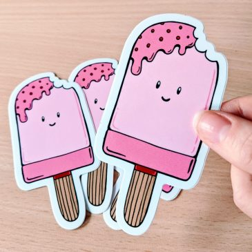 Vinyl-ice-cream-stickers-DewyCreations by .