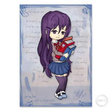 Yuri-doki-doki-literature-club-chibi-DewyCreations by Dewy Venerius.