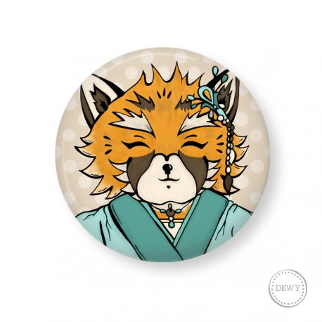 button-foxy-portrait by Dewy Venerius.