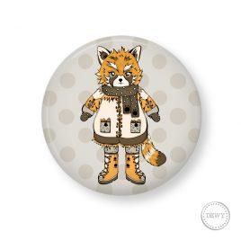 button-red-panda-foxy2 by Dewy Venerius.