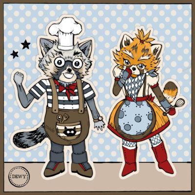 Foxy & Trash Panda chefs