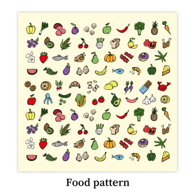 foodpattern-dewycreations by Dewy Venerius.