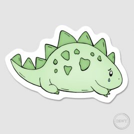 sad-little-dino-sticker by Dewy Venerius.