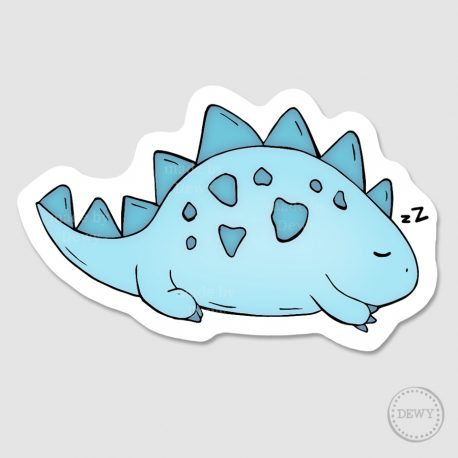 sleepy-dino-sticker by Dewy Venerius.