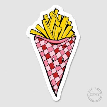sticker-frietjesB by Dewy Venerius.