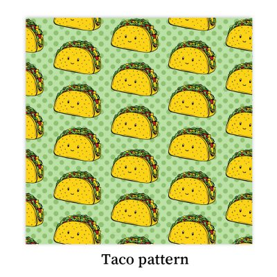 taco-pattern-DewyCreations2 by Dewy Venerius.